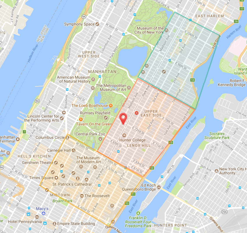 food delivery nyc map from pronto madison